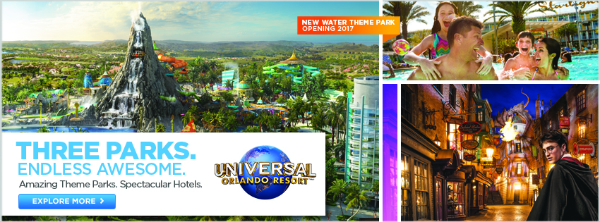 Universal - Three Parks. Endless Awesome.
